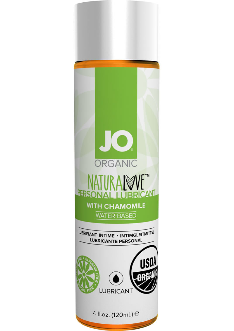 Jo Organic Naturalove Personal Waterbased Lubricant With Chamomile 4 Ounce